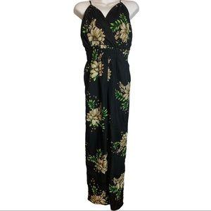 Streetwear Society Floral Adjustable Jumpsuit Sm